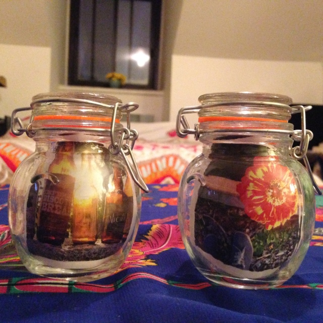 Got these jars at Dollarama.